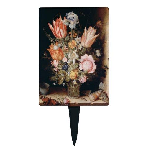 Primero de la torta de las flores de Van den Bergh Decoraciones De Tartas