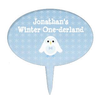 Primero de la torta de Onederland del invierno del Figuras Para Tartas