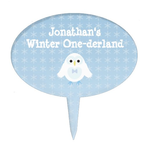 Primero de la torta de Onederland del invierno del Figura De Tarta