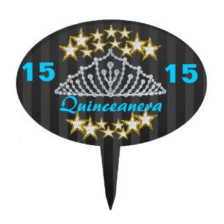 Primero de la torta de Quinceanera del dulce 15 Decoraciones De Tartas
