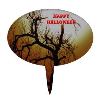 PRIMERO de la TORTA del feliz Halloween Figura De Tarta
