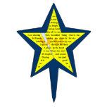 Primero de la torta del poema de la estrella figuras para tartas