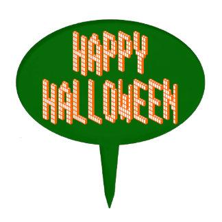 Primero de la torta del texto de Halloween Blox Decoraciones De Tartas
