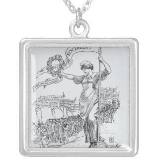 Primero de mayo, 1907 collar plateado