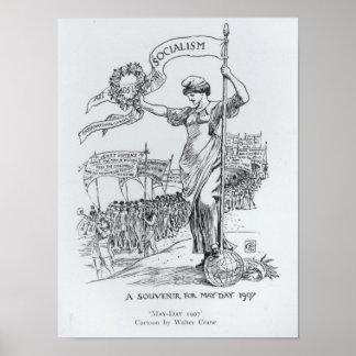 Primero de mayo, 1907 póster