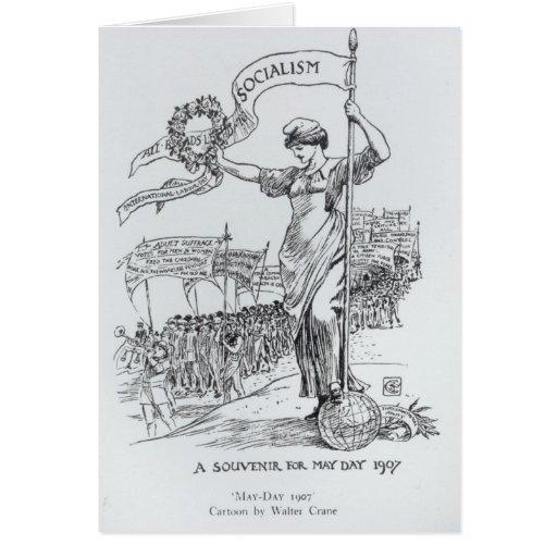 Primero de mayo, 1907 tarjeta de felicitación