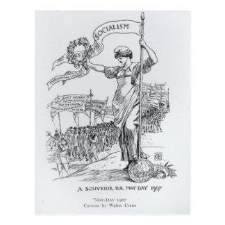 Primero de mayo, 1907 tarjetas postales