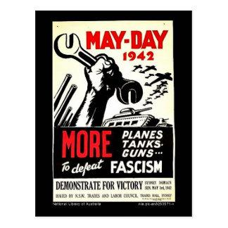 Primero de mayo 1942 más a la derrota postales