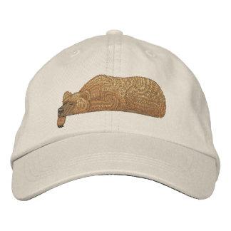 Primero del bolsillo del oso gorras bordadas
