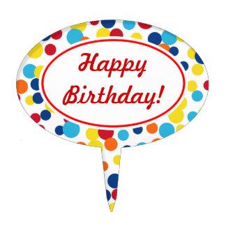 Primero festivo de la torta de cumpleaños de los p decoración para tarta