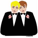 Primero gay del pastel de bodas escultura fotografica