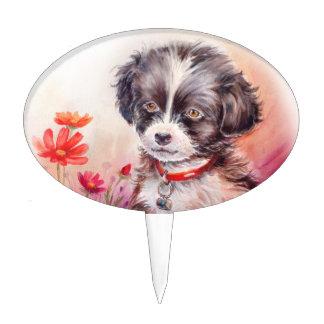 Primero lindo de la selección del perro decoraciones para tartas