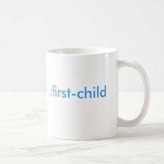 : primero-niño (es un muchacho!) taza de café