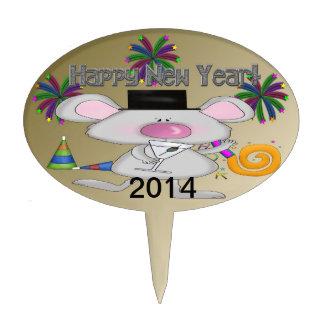 Primero oval de la torta del ratón del Año Nuevo Decoración Para Tarta