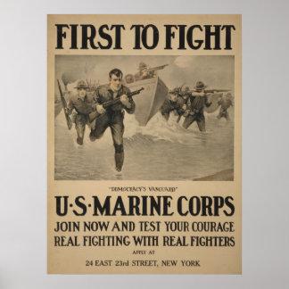 Primero para luchar - a Cuerpo del Marines de los Posters