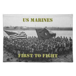 Primero para luchar - infantes de marina de los mantel individual