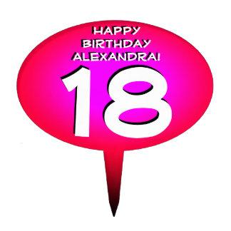 Primero personalizado rosa de la torta de cumpleañ figura para tarta
