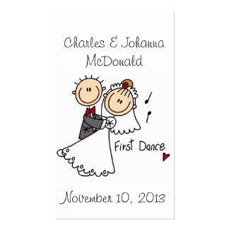 Primero tarjeta de visita de la danza