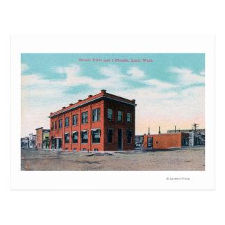 Primero y calle CornerLind, WA de I Tarjeta Postal