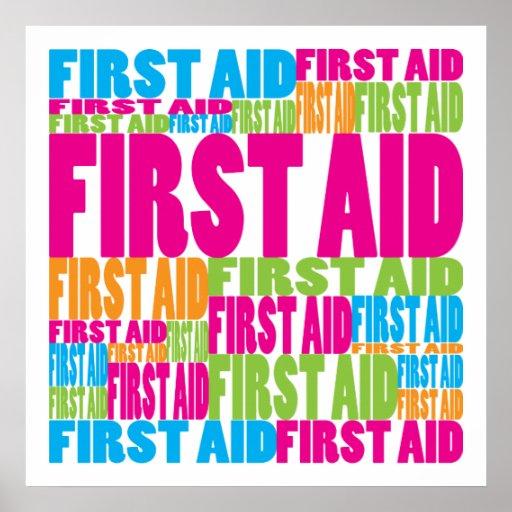 Primeros auxilios coloridos posters