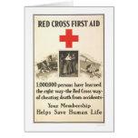 Primeros auxilios de la Cruz Roja Tarjetas