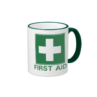 Primeros auxilios tazas de café