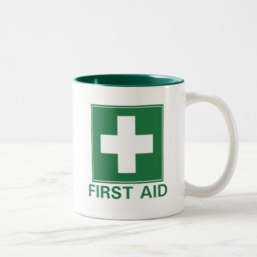 Primeros auxilios taza de dos tonos
