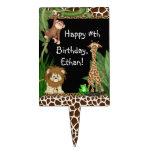 Primeros de la torta de cumpleaños del safari de s figura de tarta