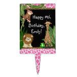 Primeros de la torta de cumpleaños del safari de s decoraciones de tartas