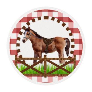 Primeros del fiesta del caballo por los estudios láminas de azúcar para galletas