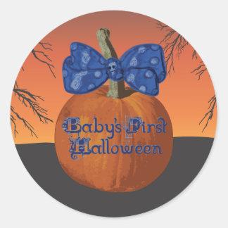 Primeros Halloween pegatinas de Babys Etiquetas Redondas