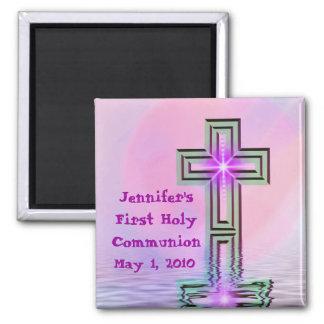 Primeros imanes de la comunión santa de Jennifer Imán Cuadrado