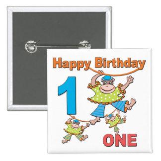 Primeros monos del cumpleaños pins