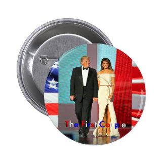 Primeros pares Donald e inauguración del triunfo Pin Redondo De 2 Pulgadas