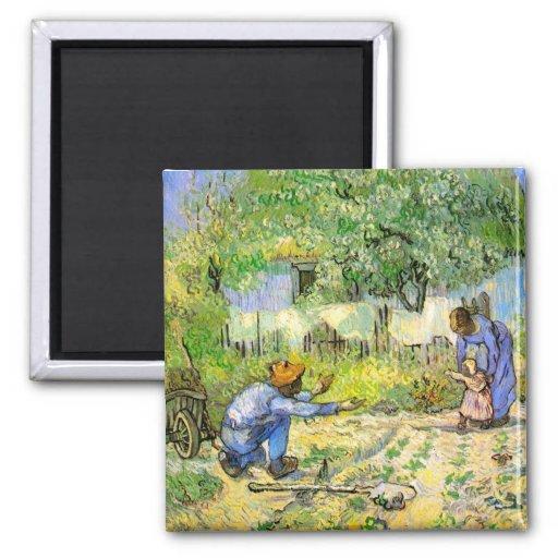 Primeros pasos de Van Gogh (después del mijo) (F66 Iman Para Frigorífico