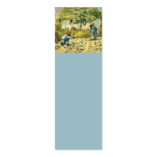 Primeros pasos de Vincent van Gogh 1890 Plantillas De Tarjeta De Negocio