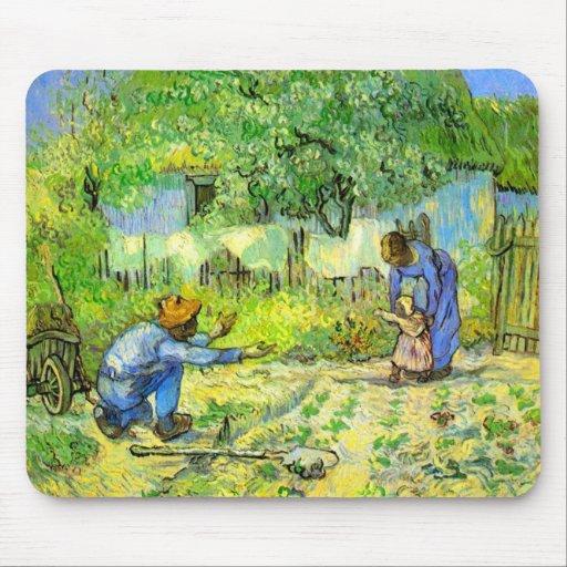 Primeros pasos, Vincent van Gogh 1890. Mousepad
