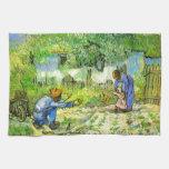 Primeros pasos, Vincent van Gogh 1890. Toallas De Cocina