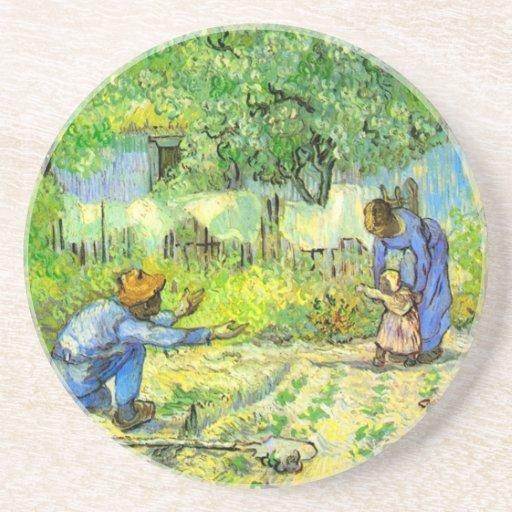 Primeros pasos, Vincent van Gogh 1890. Posavasos Manualidades