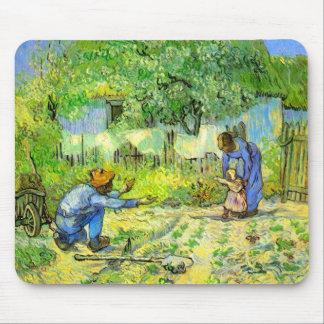 Primeros pasos, Vincent van Gogh 1890. Alfombrilla De Raton