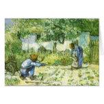 Primeros pasos, Vincent van Gogh 1890. Tarjetas