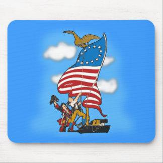 Primeros productos de la bandera americana del vin alfombrilla de ratones