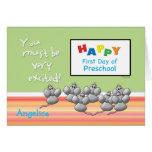Primeros ratones felices preescolares del día y ta felicitaciones