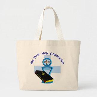 Primeros regalos de la comunión santa para los niñ bolsa de tela grande