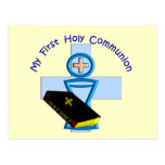 Primeros regalos de la comunión santa para los niñ postal