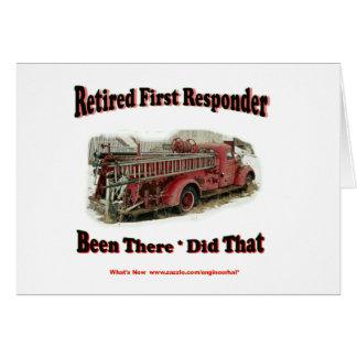 Primeros respondedores jubilados tarjetón