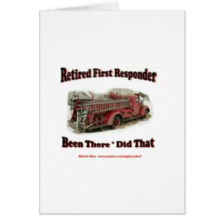 Primeros respondedores jubilados tarjetas
