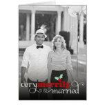 Primeros saludos feliz casados del día de fiesta tarjetas