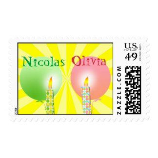 ¡Primeros sellos del cumpleaños para los gemelos!