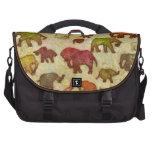 Primitiv elephants silhouettes laptop commuter bag